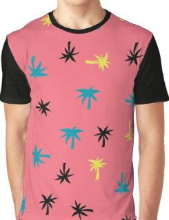 Palms on Pink Graphic T-Shirt