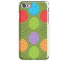 TMNT colourful shells (green) iPhone Case/Skin