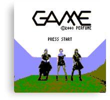 Perfume Game NES Start Screen Canvas Print