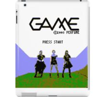 Perfume Game NES Start Screen iPad Case/Skin