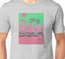 HOT PINK PALM ISLAND Unisex T-Shirt