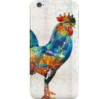 Colorful Rooster Art by Sharon Cummings iPhone Case/Skin