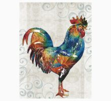 Colorful Rooster Art by Sharon Cummings Kids Clothes