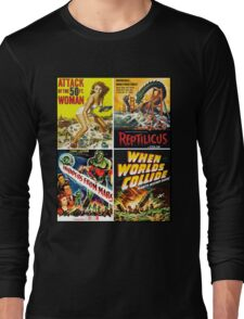 1950s Sci-Fi Poster Collection #2 Long Sleeve T-Shirt