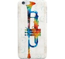 Colorful Trumpet Art Color Fusion By Sharon Cummings  iPhone Case/Skin
