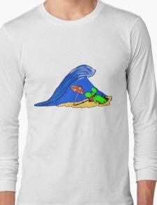 la souris verte a la plage Long Sleeve T-Shirt