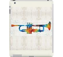 Colorful Trumpet Art Color Fusion By Sharon Cummings  iPad Case/Skin