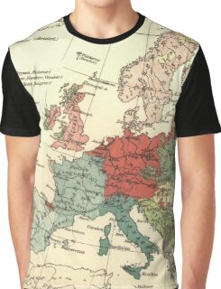 Map of Europe Vintage Atlas Globe Graphic T-Shirt