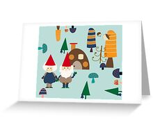 Gnome blue Greeting Card
