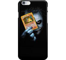 Joker holding up Pokemon Charizard card iPhone Case/Skin