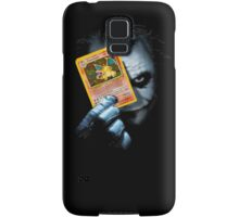Joker holding up Pokemon Charizard card Samsung Galaxy Case/Skin