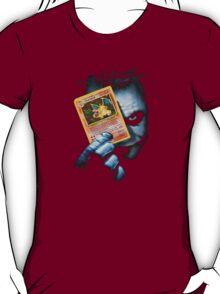 Joker holding up Pokemon Charizard card T-Shirt