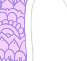 zentangle r: purple  Sticker