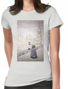 Winter Dalek Womens Fitted T-Shirt