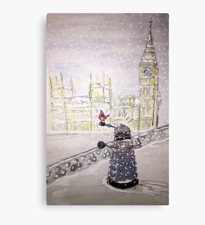 Winter Dalek Canvas Print