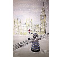 Winter Dalek Photographic Print