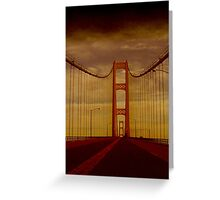 Mackinac Bridge ~ Michigan Greeting Card