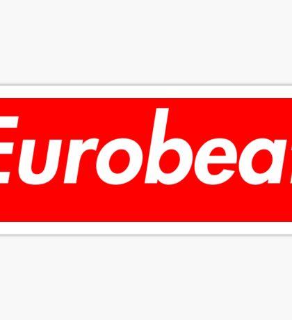 Supreme Eurobeat Sticker