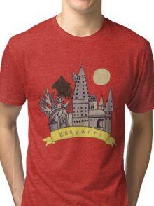 hogwarts sketch Tri-blend T-Shirt