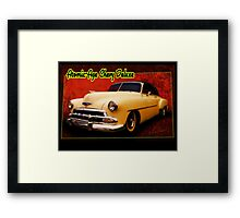 Atomic-Age Chevy Deluxe Framed Print