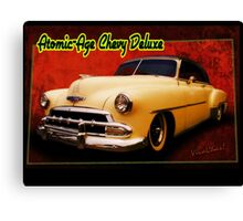 Atomic-Age Chevy Deluxe Canvas Print