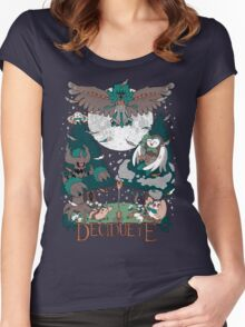 Starter's family: Decidueye Women's Fitted Scoop T-Shirt