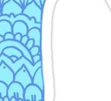 zentangle r: blue  Sticker