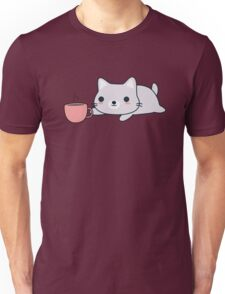 Cute Coffee Cat Unisex T-Shirt