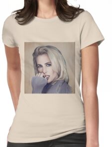 Gillian Anderson oil color painting  Womens Fitted T-Shirt