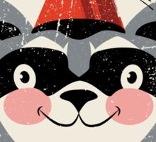 Red fez Racoon Sticker