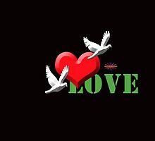Love birds with heart by Ashadeep