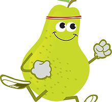 Awesome Running Pear by Eggtooth