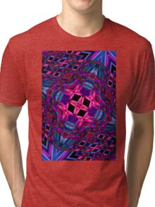 Abstract smoke art design Tri-blend T-Shirt