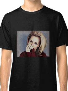 Gillian Anderson oil color painting  Classic T-Shirt