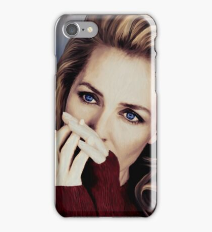 Gillian Anderson oil color painting  iPhone Case/Skin