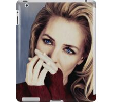Gillian Anderson oil color painting  iPad Case/Skin