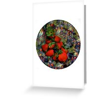 Klimt Strawberry Salad Greeting Card