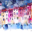 The coloured houses in Portofino by Alessandro Andreuccetti