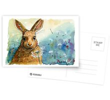 Funny Rabbits - with Dandelions 548 Postcards
