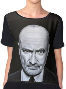 Phil Collins painting Chiffon Top