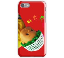 Baby doll with butterflies iPhone Case/Skin