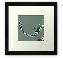 In a beautiful pea-green boat Framed Print
