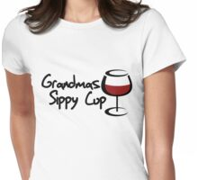 Grandmas sippy cup Womens Fitted T-Shirt