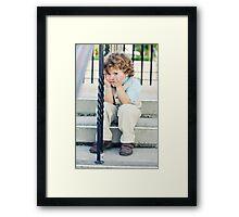Peek a boo! Framed Print
