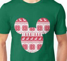 Mouse Head Silhouette Fair Isle Pattern Unisex T-Shirt
