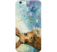 Funny Rabbits - with Dandelions 548 iPhone Case/Skin