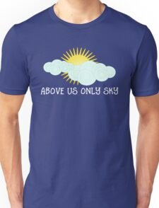 Imagine - John Lennon - Above Us Only Sky Lyrics Text Unisex T-Shirt