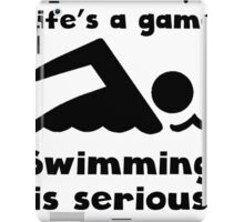 Swimming Is Serious iPad Case/Skin