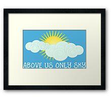 Imagine - John Lennon - Above Us Only Sky Lyrics Text Framed Print