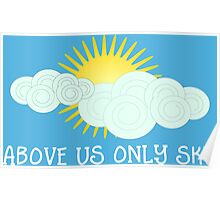 Imagine - John Lennon - Above Us Only Sky Lyrics Text Poster